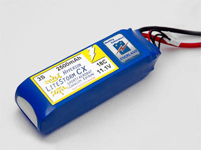 HYPERION LCX 2500 MAH 4S 18C LITHIUM POLYMER BATTERY PACK